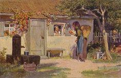 """""""Schneewittchen"""" - Illustration zu Grimms Märchen, von Professor Paul Hey, Maler, Grafiker und Illustrator (19.10.1867 in München - 14.10.1952 Gauting)"""