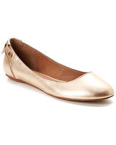 Corso Como Felix Leather Flat Gold