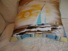 1 Novelty Pillow  17.5''  x 17.5  Nautical by NoveltyPillows4All, $40.00