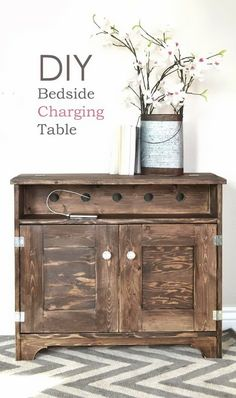 How To Paint Furniture | Vintage Gray/Brown Stain on Pine | Ana White ...