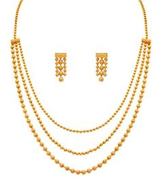 Here are the 9 best 5 gram gold necklace designs. 5 gm gold necklace is exquisite and cost effective. You can get wonderful patterns in this amount of gold. Gold Earrings Designs, Gold Jewellery Design, Indian Gold Necklace Designs, Jewellery Uk, India Jewelry, Indien Design, Long Pearl Necklaces, Gold Jewelry Simple, Silver Jewelry