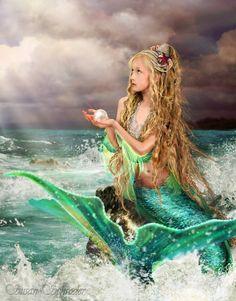 Mermaid art #Mermaid #Fantasy https://www.etsy.com/listing/81455707/mermaid-art-marina-11x14-mermaid-art