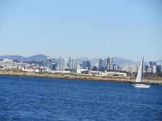 San Diego Skyline from Whale Watching Boat Tour... just a typical beautiful day in San Diego