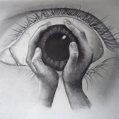The image above has a wicked visual effect. It is one of the many bizarre pencil drawings of Artwork Link via Brandi Crist. Inspiration Art, Art Inspo, Pencil Art, Pencil Drawings, Drawing Sketches, Cool Drawings, Eye Sketch, Drawing Eyes, Drawings Of Men