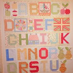 Lovely ABC quilt idea