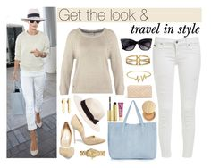 """""""Travel in style - Rosie Huntington Whiteley"""" by leinijewelry ❤ liked on Polyvore featuring Vero Moda, Steve Madden, Topshop, SUMMERSKIN, Bling Jewelry, Sole Society, H&M, Whiteley, Marc by Marc Jacobs and Jane Iredale"""