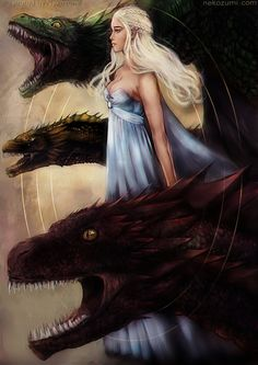 Mother of Dragons: Beautiful Illustration of... | Game of Thrones Fan Art