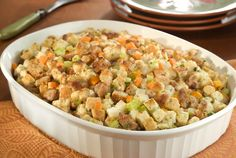 Holiday Stuffing Recipe Side Dishes with bulk italian sausag, onion, celery, carrots, water, knorr homestyl stock   chicken, cube mix season stuf, finely chopped fresh parsley