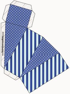 Blue Stripes and White Polka Dots Free Printable Boxes. Printable Box, Printable Crafts, Free Printables, Diy Gift Box, Diy Box, How To Train Your, How Train Your Dragon, Dots Free, Fall Coloring Pages