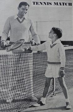 Vintage tennis outfit ad for for boys-- view http://pinterest.com/davidos193/parent-child/
