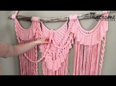 Advanced Tutorial: DIY Macrame Wall Hanging with Crafty Ginger - YouTube