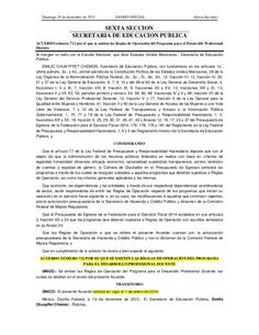 Acuerdo 712 Reglas Operación Ley Servicio Profesional Docente