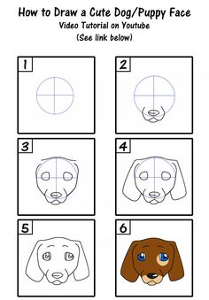 How To Draw A Cute Puppy Dog Face By SavannaW On DeviantArt cute dog drawing step by step