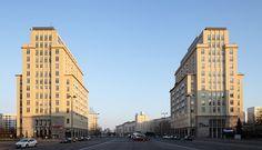 Communist-era housing blocks in Strausbergerplatz, East Berlin.