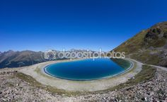 Water Reservoir Lake On Mt. Jakobshorn In Davos Graubuenden Switzerland In Summer Davos, Photo Library, My Images, Switzerland, Hiking, River, Stock Photos, Vacation, Mountains