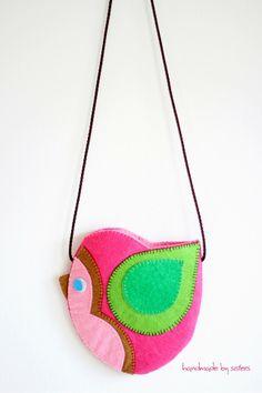 BOLSITO Diy Bags Purses, Fabric Purses, Animal Bag, Felt Purse, Cute Backpacks, Felt Fabric, Girls Bags, Cute Bags, Sewing For Kids