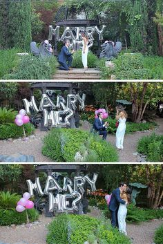 This marriage proposal in the park is so romantic, and she was perfectly surprised!