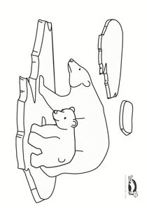 Polar Bear Art Activities School Art and Science Activity . Polar Bear Coloring Page, Bear Coloring Pages, Polo Norte, Winter Crafts For Kids, Winter Kids, Polar Bear Drawing, Bear Sketch, Accordion Book, Polar Animals
