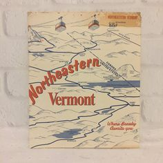 Northeastern Vermont Map Vermont Brochure by ColsonsCollectibles