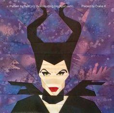 Fandom In Stitches: Maleficent, a free paper pieced pattern by Alida (TweLoQ). fandominstitches.com