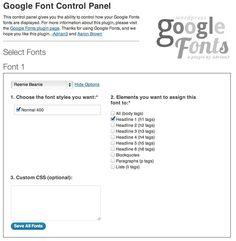 WP-Google-Fonts