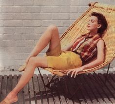 wicker and iron lounge chair, 1954