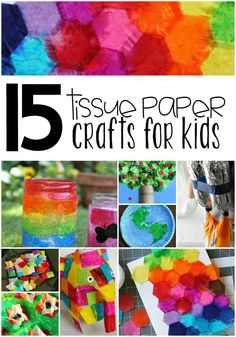 Explore the wonderful versatility of tissue paper with these 15 tissue paper crafts for kids! There are so many different crafts that can be created...