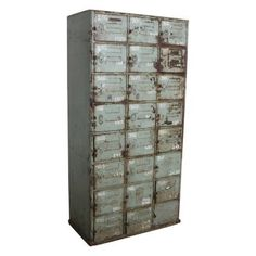 School may well be out, but our Industrial School Lockers are most definitely in! Our vintage steel Industrial School Lockers come with twenty-four compartments making child Vintage Furniture, Cool Furniture, Furniture Design, Industrial Lockers, School Lockers, Sideboard Cabinet, Steel, Retro, Storage