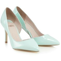 Faith D'orsay Court Shoe (€50) ❤ liked on Polyvore featuring shoes, pumps, lipsy, d'orsay pumps, dorsay pump, mint pumps and mint green shoes