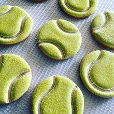 #tennisballcookies