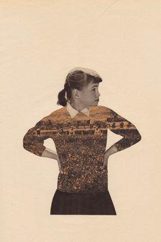 cotton, collag illustr, holli leonardson, collages, gingerbread, collage illustration, art collag, fashion illustrations, fields