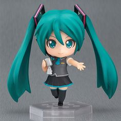 Hatsune Miku is joining the 'Nendoroid Co-de' brand of figures! She has been sculpted wearing the Miku' module that was seen in SEGA feat. HATSUNE MIKU Project's 'Hatsune Miku -Project DIVA-' p Vocaloid, Hades, Zbrush, Marchandise Anime, Kaai Yuki, Chibi, Hatsune Miku Project Diva, Kagamine Rin And Len, Mikuo