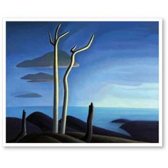"""Canadian Group of Seven painter Lawren Stewart Harris was born in This is """"Lake Superior. Group Of Seven Artists, Group Of Seven Paintings, Tom Thomson, Emily Carr, Canadian Painters, Canadian Artists, Abstract Landscape, Landscape Paintings, Abstract Art"""
