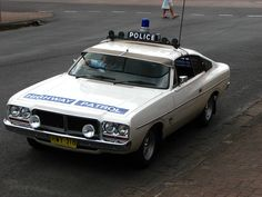 An original Charger Highway Patrol car as was used by the NSW Police Highway Patrol in the Chrysler Charger, Chrysler Cars, Old Police Cars, Ford Police, Australian Muscle Cars, Aussie Muscle Cars, Chrysler Valiant, Holden Australia, Veteran Car