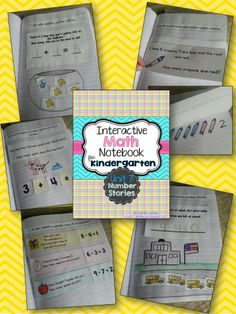 Interactive Math Notebook for Kindergarten -- Unit 7: Number Stories. Daily notebook entries for a month! My kids LOVE their math notebook! $