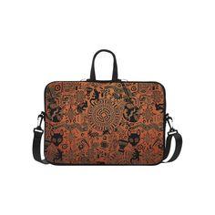 "Tribal Mandala Symbol Print Laptop Case Laptop Handbags 15"".Tribal Mandala Mayan Primitive Symbol Print Laptop Case"