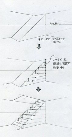 Zeichnen (Treppe) drawing for beginners drawing house architecture drawing Interior Architecture Drawing, Architecture Drawing Sketchbooks, Interior Design Sketches, Sketch Design, Indian Architecture, Renaissance Architecture, Japanese Architecture, Futuristic Architecture, Ancient Architecture