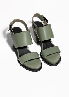 & Other Stories   Buckled Leather Sandals   @andwhatelse