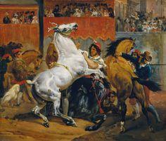 The Start of the Race of the Riderless Horses  Artist: Horace Vernet  Date: 1820