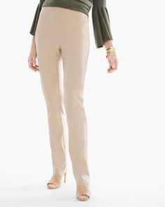 Chico's Women's So Slimming Brigitte Straight-Leg Pants, Sonora Sand, Size: 4 (20 - XXL) REG