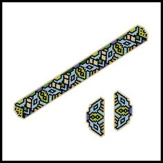 Dainty Art Deco Bees and Flowers Bracelet & Earrings | Bead-Patterns.com
