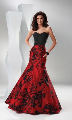 Red and Black Wedding Dresses - Photo Source: weddingdressesinfo ...