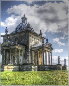 Temple of the Four Winds, Castle Howard, North Yorkshire England, Designed by Vanburgh, the architect for the main Castle Howard House. The Temple was completed in 1739