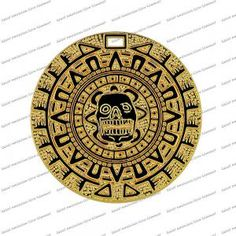 ARRGH!!! PIRATE BOOTY - PIRATE TREASURE  A frightening Aztec Gold pirate coin.  This pirate coin is our most sought after treasure coin. Measuring 1.5 inces in diameter and has the look and feel of a real pirate gold treasure coin.  A small hole is located at the top of the coin, so it can be worn as a necklace.