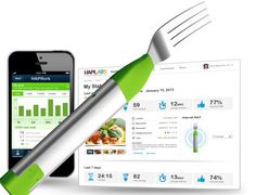This smart fork will help you develop healthier eating habits.