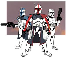 Clones from the animated series Star Wars: Clone Wars.