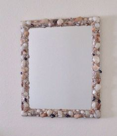 Mirror with shell frame wall mirror. by MyCraftTime on Etsy, $240.00