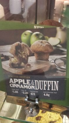 Starbucks Apple & Cinnamon Duffin Apple Cinnamon, Starbucks, Display, Cafes, Floor Space, Billboard