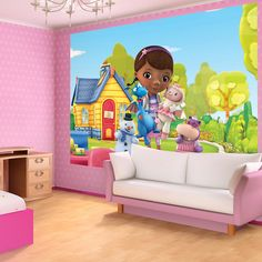 disney  doc mcstuffins  bedrooms for girls | disney doc mcstuffins wallpaper washable with glue included theme doc ...