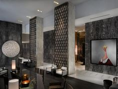 W Hotel South Beach (Lobby) It's the artwork that really makes this lobby pop!